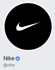 Badge Facebook de Nike.