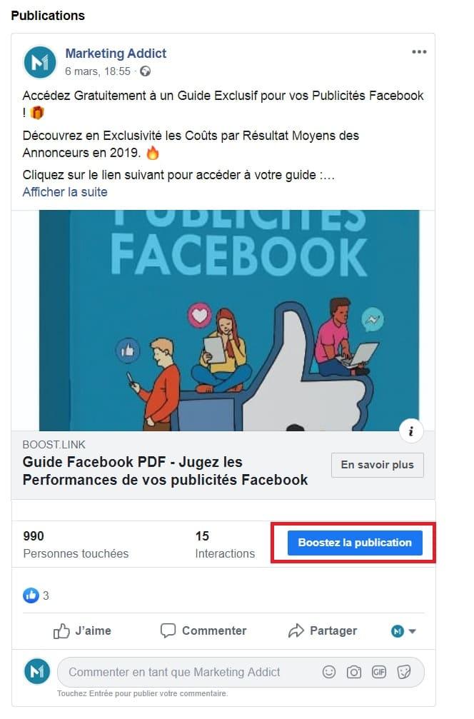 """Le fameux """"Publication Boost"""""""