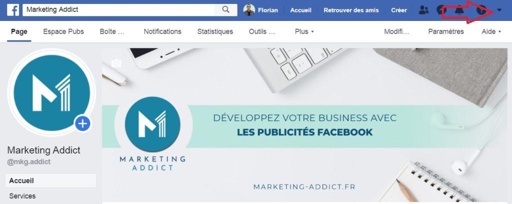 Première étape pour créer votre compte publicitaire Facebook