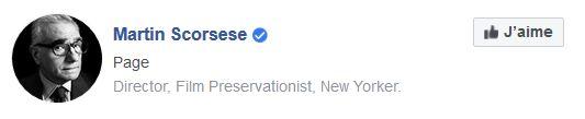 Badge Facebook de Martin Scorsese