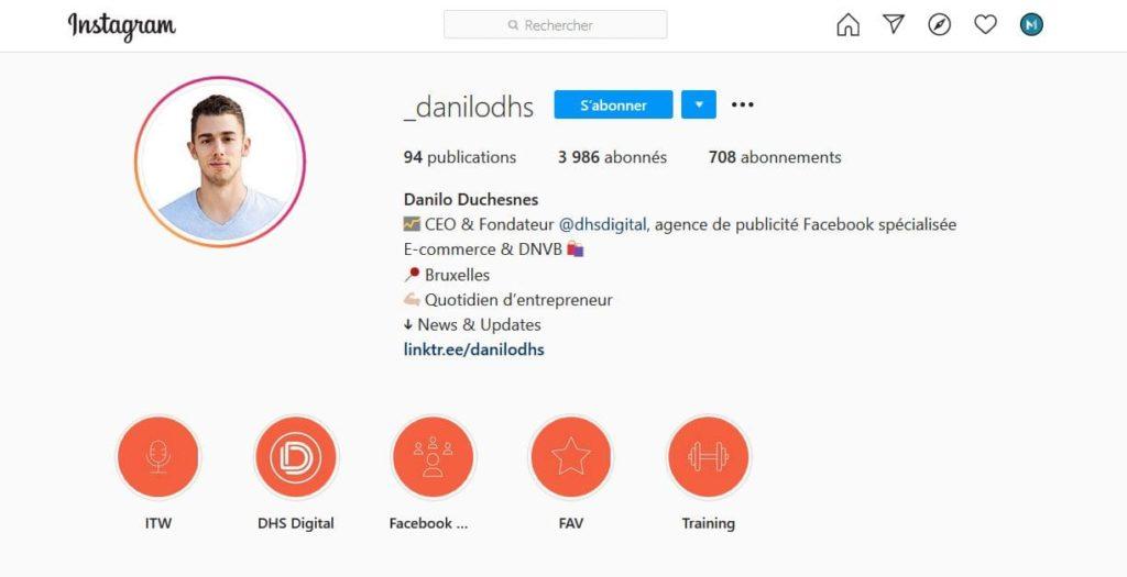 Danilo Duchesnes Instagram Biographie