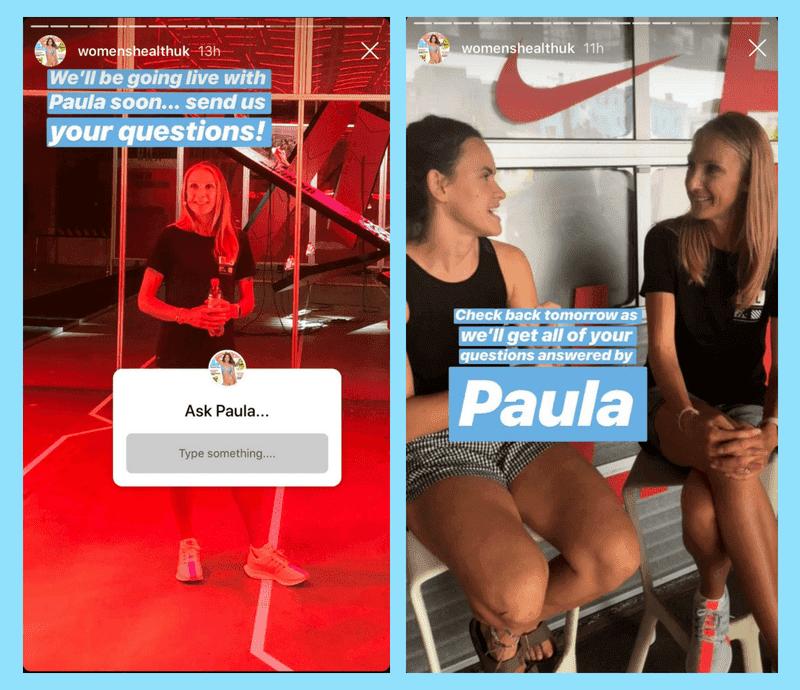 Voici une histoire Instagram qui fait la promotion d'un Live avec des réponses aux questions de la communauté