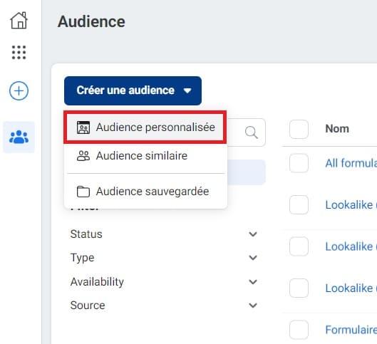L'audience personnalisée dans Facebook Business
