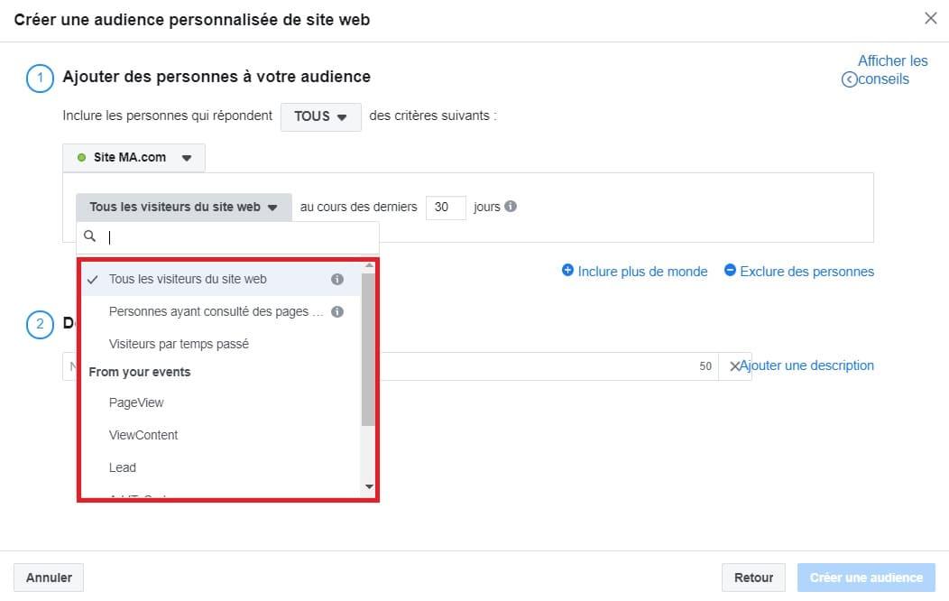 L'audience personnalisée est très utilisée sur Facebook Business